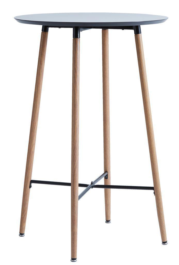 Столик барный крыглый высокий черный (диаметр 70 см)