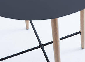 Столик барный крыглый высокий черный (диаметр 70 см), фото 3