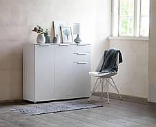 Стул кухонный с подушкой из искусственной кожи белый , фото 2