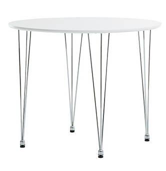 Круглый белый стол обеденный (диаметр 90 см), фото 2