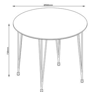 Круглий білий стіл обідній (діаметр 90 см), фото 2