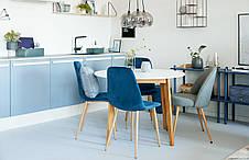 Стул кухонный, стильный тканевый синий, фото 3