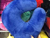Подушка - підкова, синій електрик