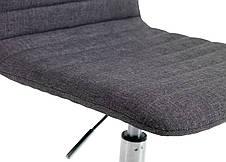 Кресло офисное серое тканевое на колесиках, фото 2