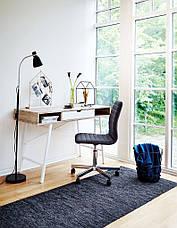 Кресло офисное серое тканевое на колесиках, фото 3