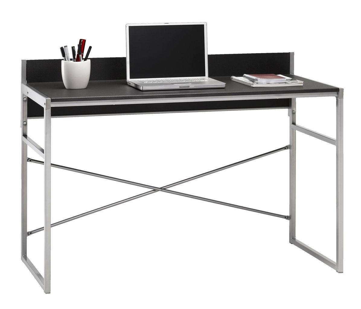 Столик офисный стильный письменный, компьютерный на металлических ножках