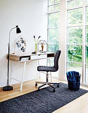 Стильный офисный стол с ящиком белый дуб 120 см, фото 2