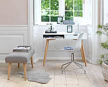 Стол письменный лакированный белый дуб, фото 3