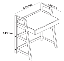 Стол письменный белый для ноутбука , фото 3