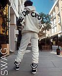Мужской махровый спортивный костюм M649 белый, фото 2