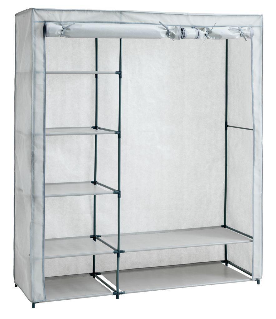 Большой тканевый шкаф на металлическом каркасе (149х174см)