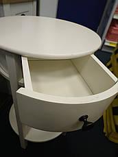 Тумба прикроватная круглая белая, фото 3