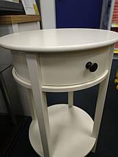 Тумба прикроватная круглая белая, фото 2