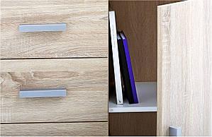Комод с одной дверью и  4-мя выдвижными ящиками, цвет дуб матовий, фото 2