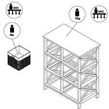 Комод деревянный с 6-мя выдвижными ящиками, цвет белый, фото 3
