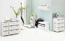 Комод деревянный с 6-мя выдвижными ящиками, цвет белый, фото 2