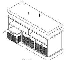 Банкетка в прихожую белая c 3-мя ящиками, фото 2