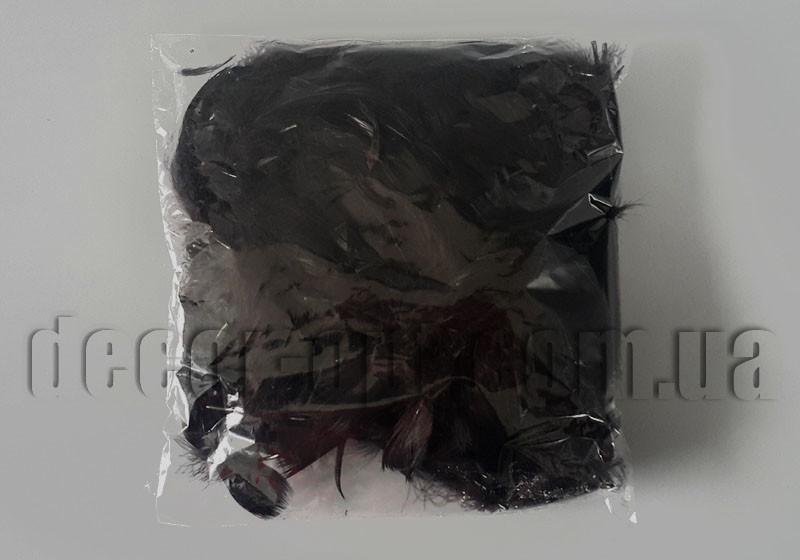 Перья черные ≈11 гр ≈150 шт