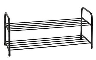 Полка для обуви металлическая на 2 полки черная, фото 2