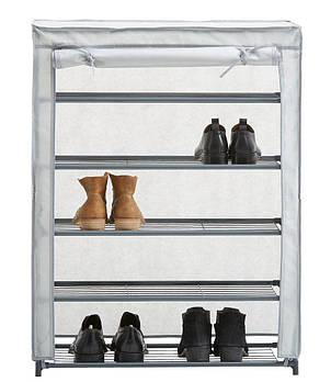 Шафа тканинний для взуття, 4 полиць, висота 90 см, фото 2