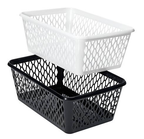 Ящик пластиковый для хранения  24Х34 см черные и белые, фото 2