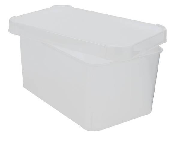 Ящик пластиковый для хранения прозрачный с крышкой, фото 2