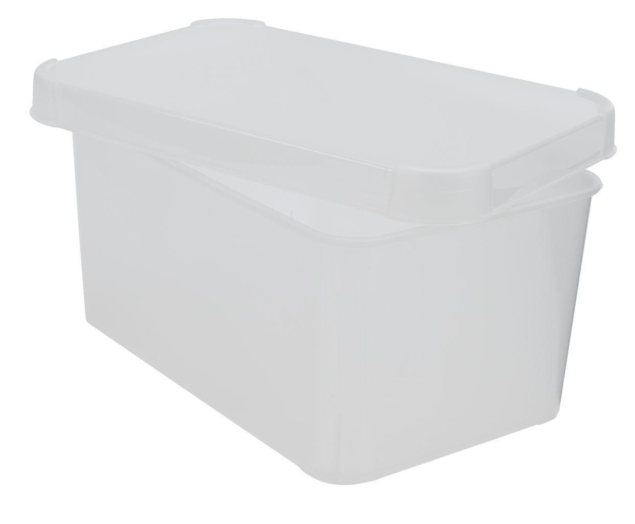 Ящик пластиковый для хранения прозрачный с крышкой
