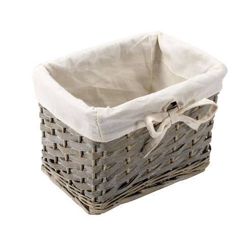 Ящик плетенный из лозы серый, фото 2