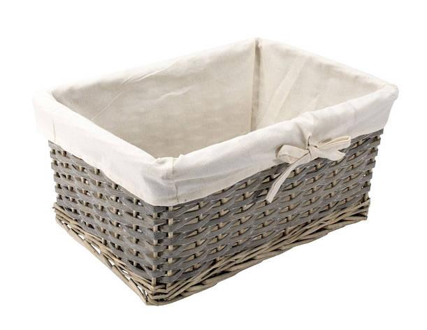 Ящик плетенный из лозы серый 38Х27 см, фото 2