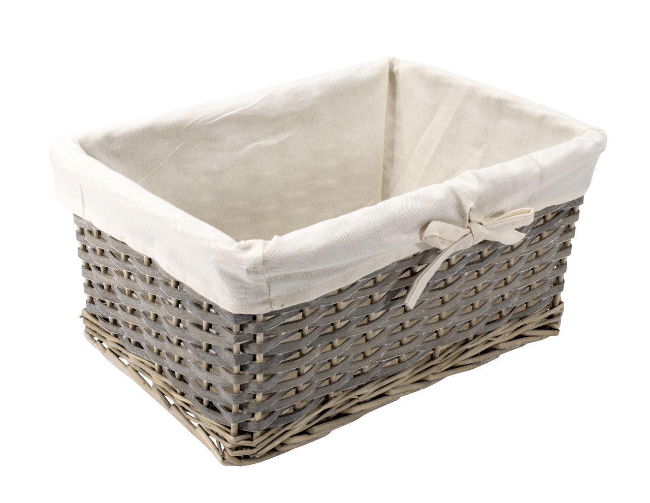 Ящик плетенный из лозы серый 38Х27 см