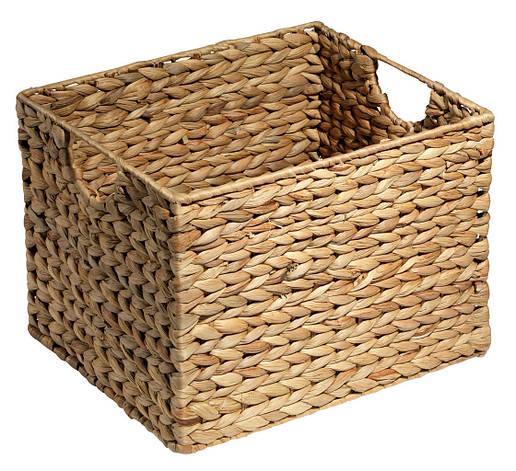 Ящик плетенный из бамбука с водного гиацинта 25X30X22 см, фото 2