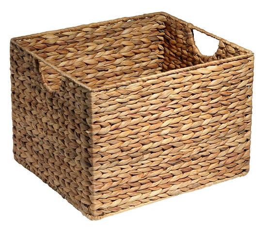 Ящик корзина плетенная из гиацинта с ручками 30X35X25 cv, фото 2