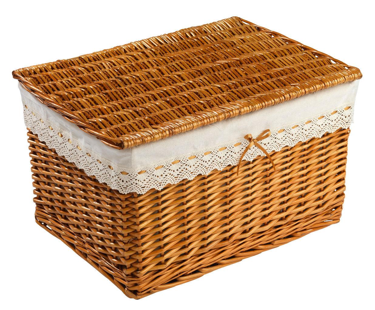 Ящик плетенный из лозы с крышкой