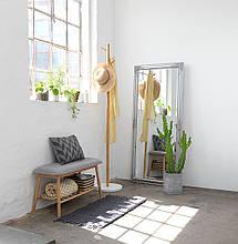 Лавка банкетка в прихожую серый / бамбук, фото 3