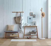 Вішалка підлогова білий / бамбук, фото 2