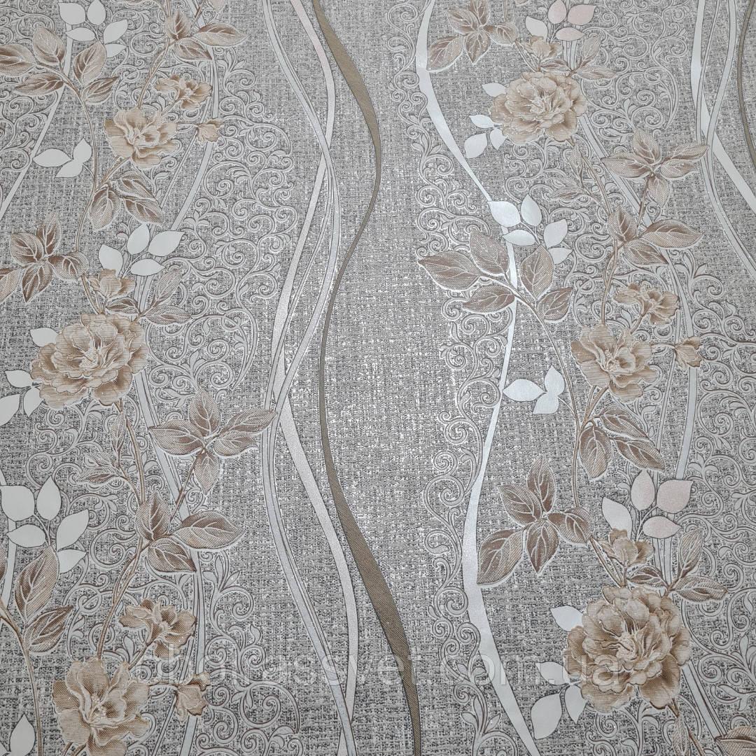 Обои  Рапсодия 3635-12,виниловые на флизелине,длина 15 м,ширина 1.06 =5 полос по 3 м каждая