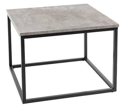 Столик из метала квадратный 60x60 см (Отделка под бетон), фото 2