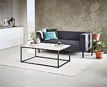 Столик кофейный из метала прямоугольный 75х115 см (Отделка под бетон), фото 3