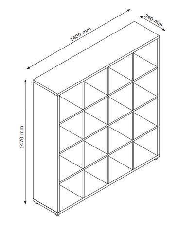 Разделитель комнаты (этажерка) на 16 полок , фото 2
