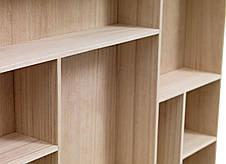 Полиця настінна натура 70х11 см (Масив деревини), фото 3