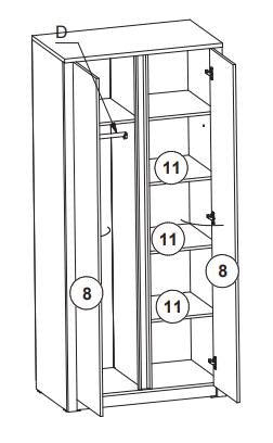 Шкаф распашной на 2 двери, фото 2
