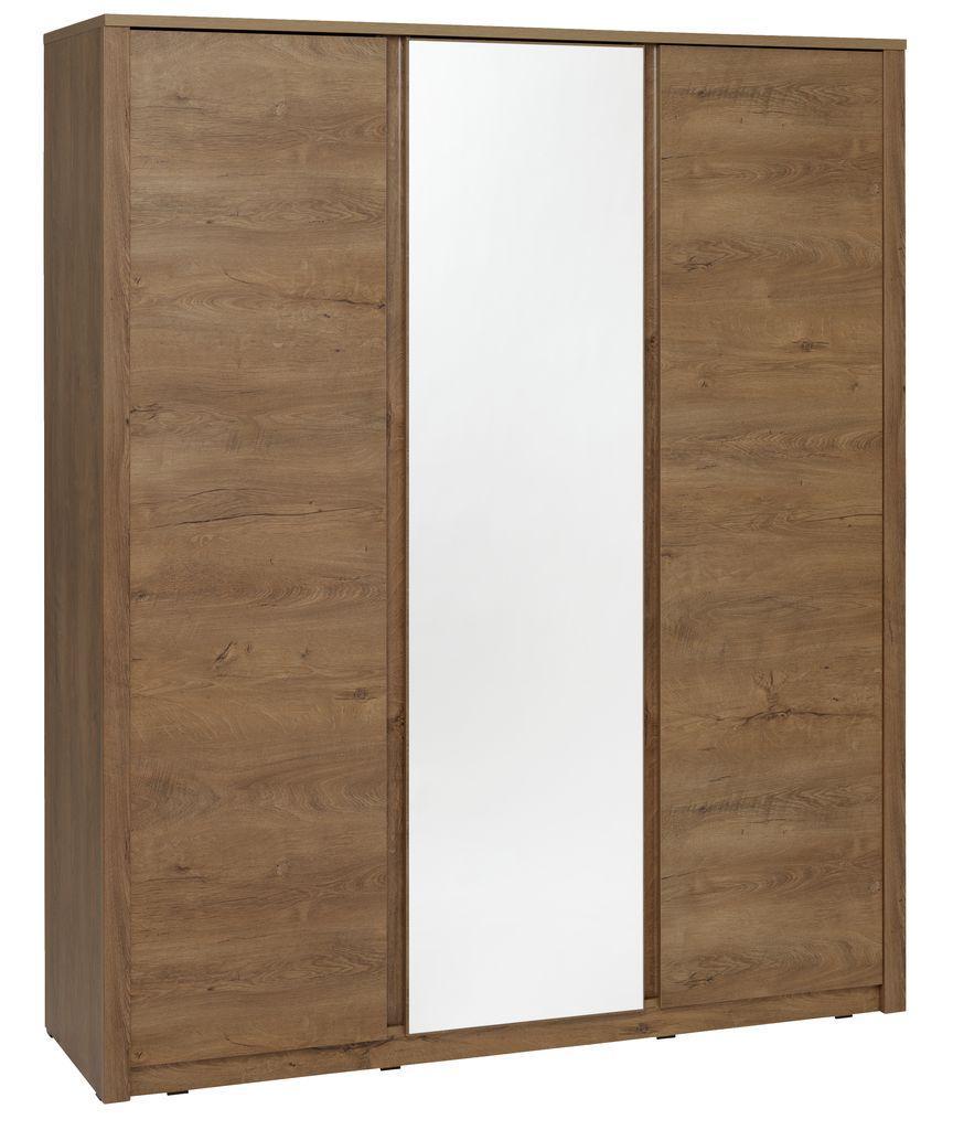 Шкаф распашной с зеркалом на 3 двери