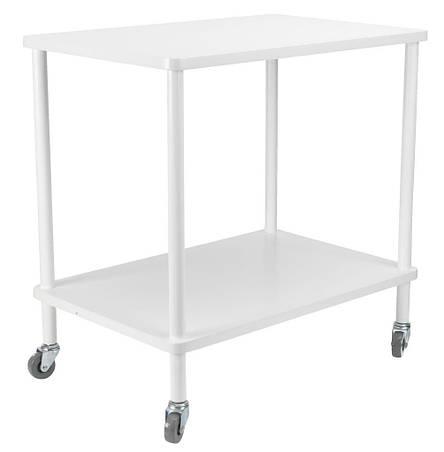 Этажерка - столик белая на колесиках , фото 2