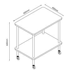 Этажерка - столик белая на колесиках , фото 3