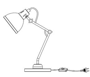 Настольная черная лампа изгибающая, фото 2