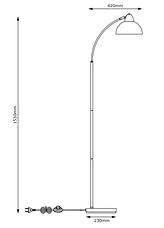 Торшер лампа напольная черная (высота 154 см), фото 3