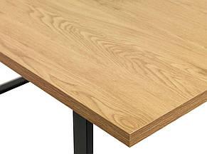 """Стол обеденный на металлических ножках 160 см (""""Дуб"""", черный), фото 2"""