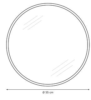 Зеркало настенное круглое, натура  (55 см), фото 3