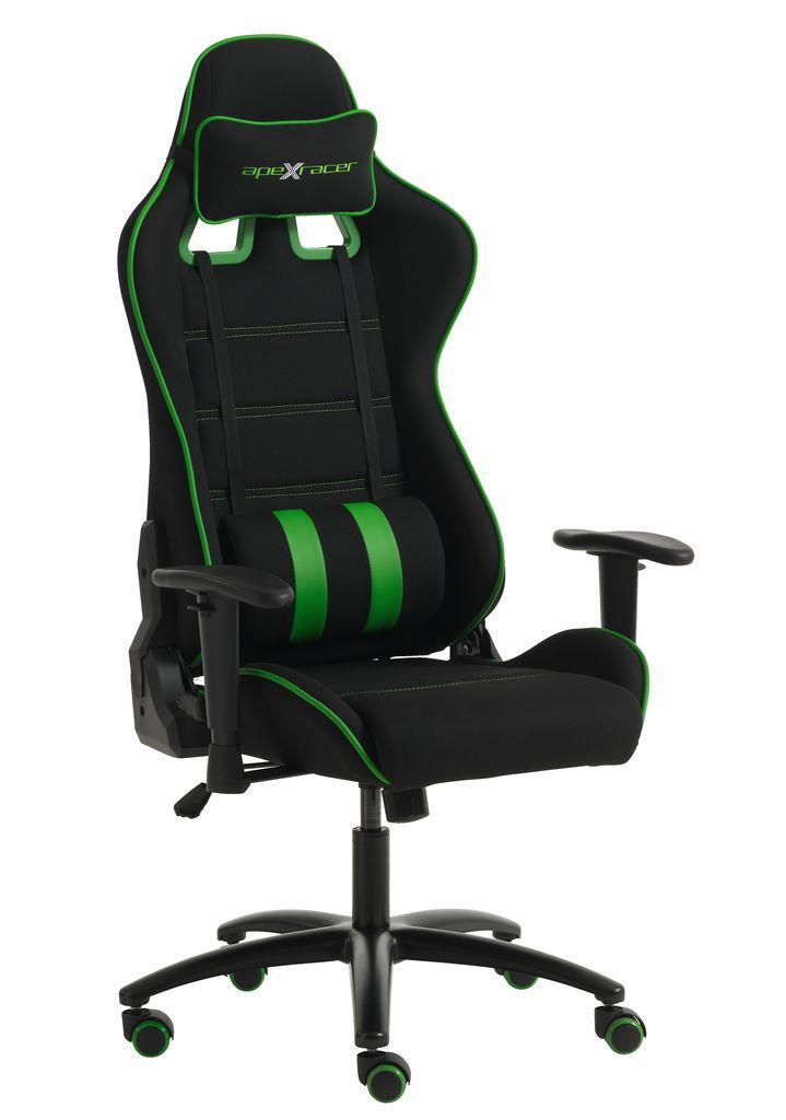 Кресло игровое компьютерное на колесиках с регулируемыми подлокотниками