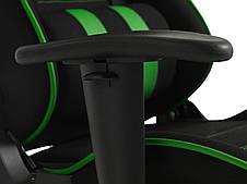 Кресло игровое компьютерное на колесиках с регулируемыми подлокотниками, фото 2